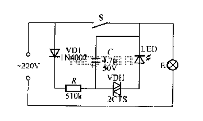 Flashing light indicates the light switch circuit : Light