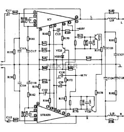 audio power amplifier circuit diagram audiocircuit circuit schema circuit diagram audio circuit tube amplifier typical application [ 1008 x 876 Pixel ]