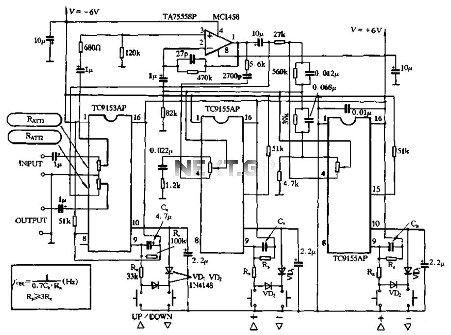 Integrated digital volume potentiometer circuit under