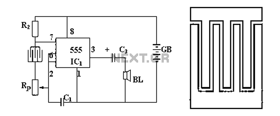 high temperature alarm circuit diagram