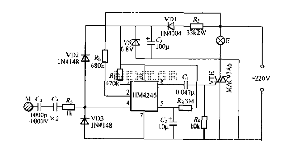 Stepping HM4246 touch dimmer light circuit : Light Dimmer