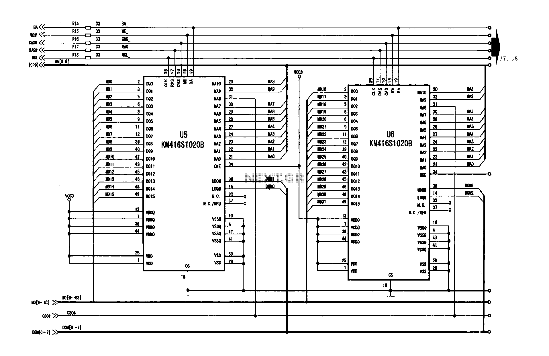 hight resolution of the frame memory circuit