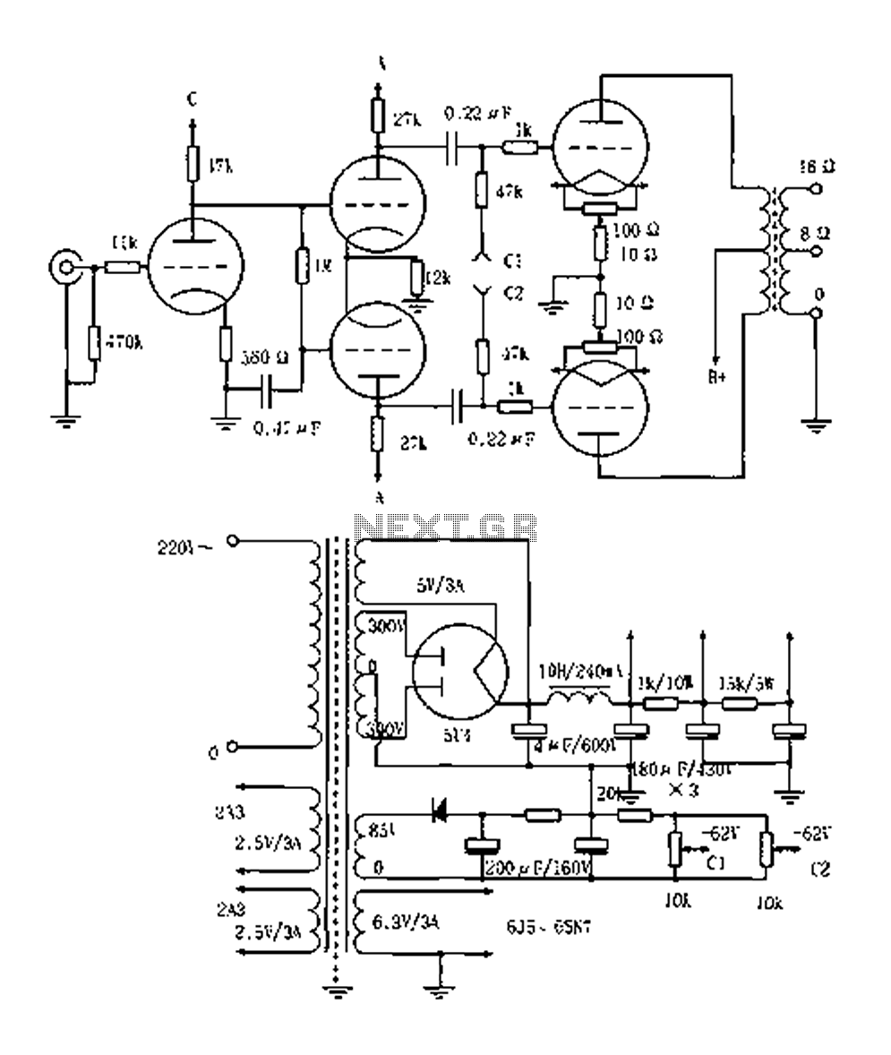 vacuum tube valve circuit : Audio Circuits :: Next.gr
