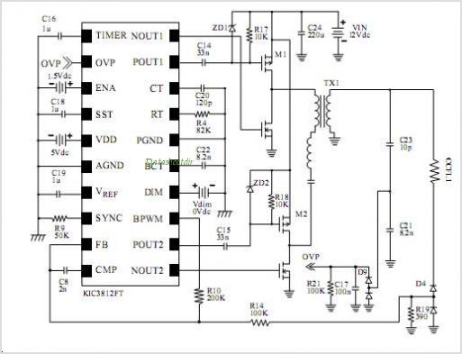 tl494 inverter ccfl lcd schematic