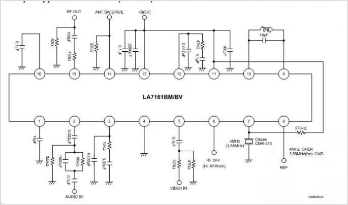 simple doorbell circuit diagram auto transformer starter wiring la7161bm vhf band rf modulator : repository - next.gr