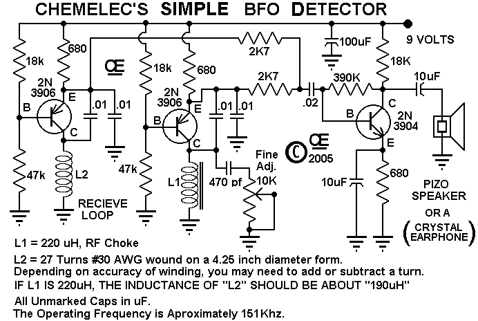 this simple bfo metal detector requires