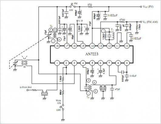AN7223 Am Tuner Fm/am If Amplifier Circuit For Radio