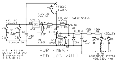 AVR for a Three Phase Generator under Repository-circuits