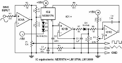 sine wave oscillator circuit Page 3 : Oscillator Circuits