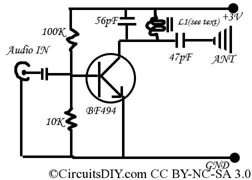 f m transmitter circuit diagram