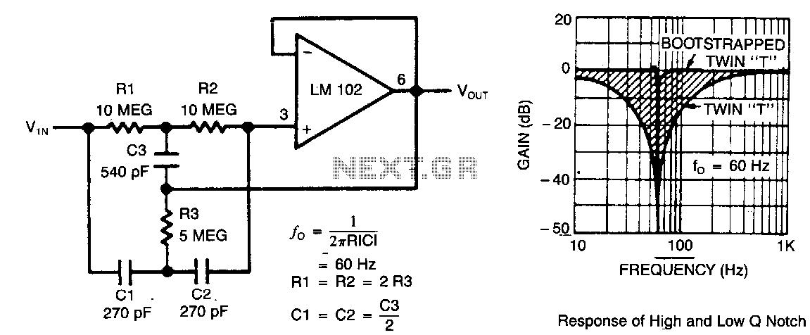 passive notch filter circuit passive bandpass filter circuit
