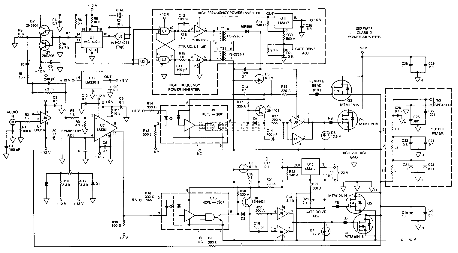 hight resolution of class d power amplifier schematic