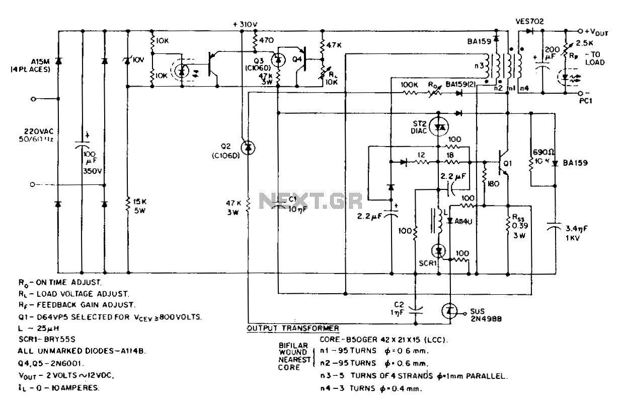 high voltage stable power supply schematic