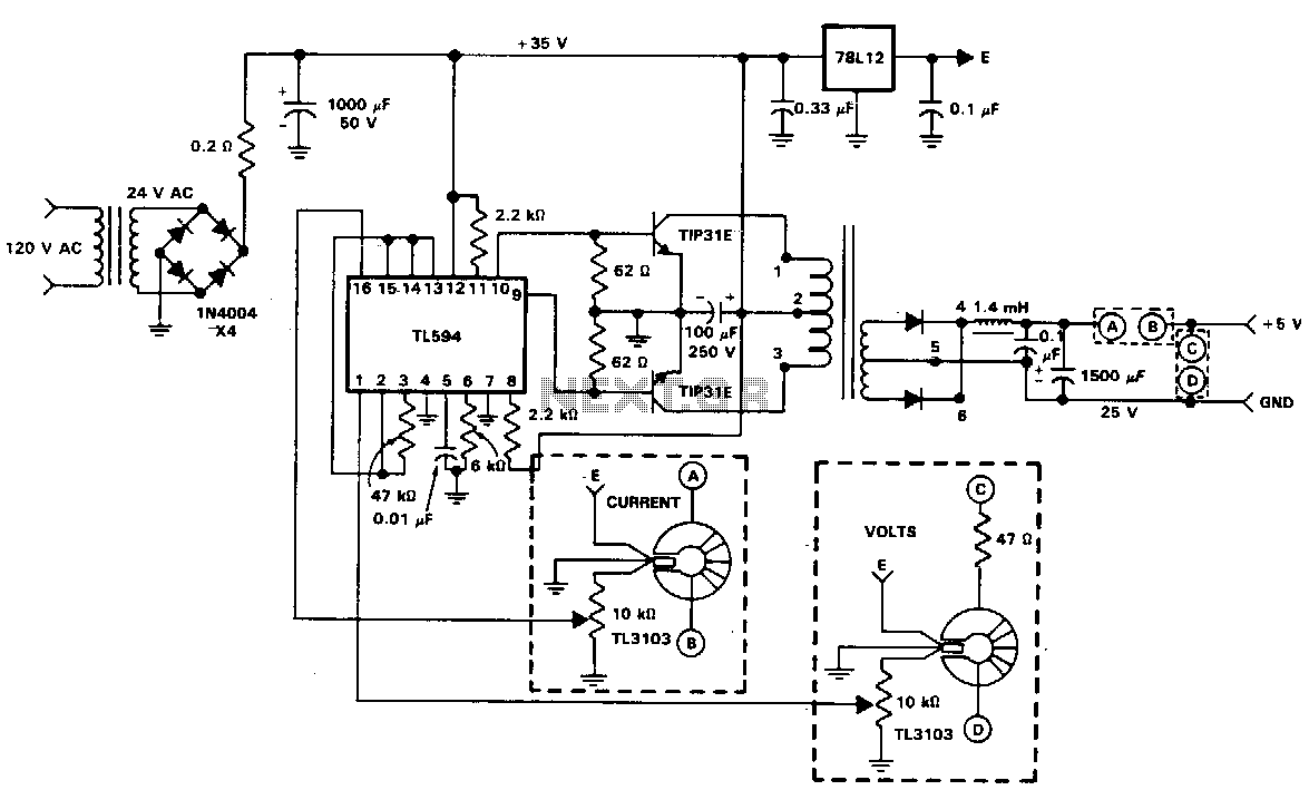 Isolated-feedback-power-supply under AC-DC & DC-DC