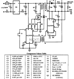 50w offline switching power supply the schematic  [ 982 x 1150 Pixel ]