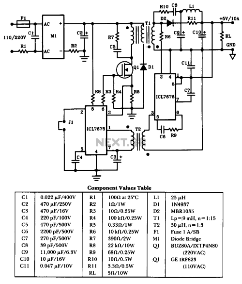 small resolution of 50w offline switching power supply the schematic