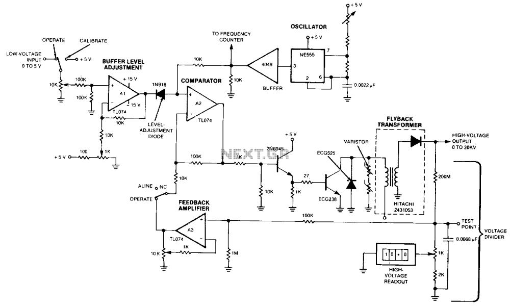 medium resolution of remotely adjustable solid state high voltage supply under high remotely adjustable solid state highvoltage supply circuit diagram