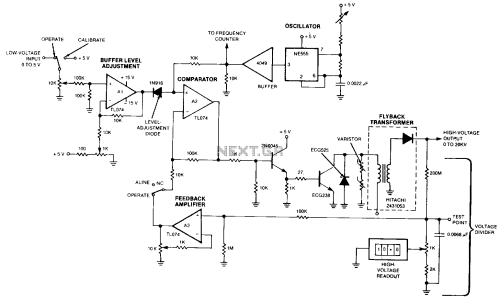 small resolution of remotely adjustable solid state high voltage supply under high remotely adjustable solid state highvoltage supply circuit diagram