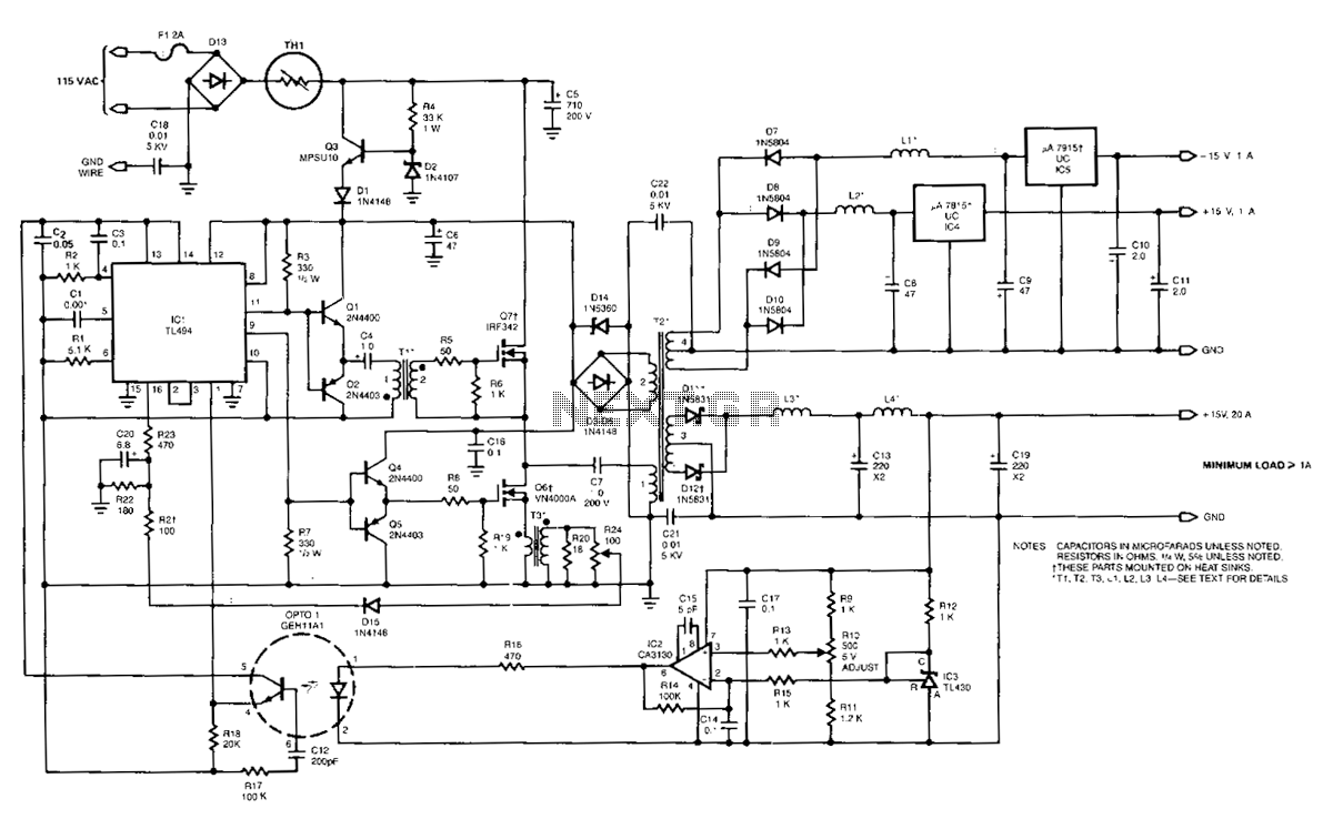 hight resolution of 100khz multiple output switching power supply