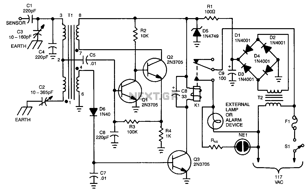 Capacitive Sensor Alarm Under Sensor Circuits