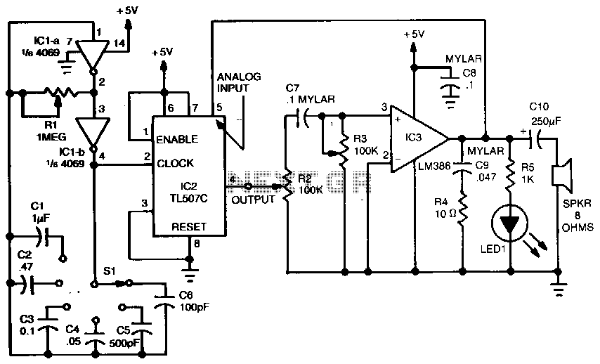 Sound-effects-generator under Musical & Effects Circuits