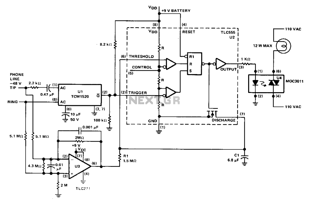 medium resolution of telephone ringer circuit telephone circuits next gr 220 volt wiring circuit diagram moreover telephone lifier telephone