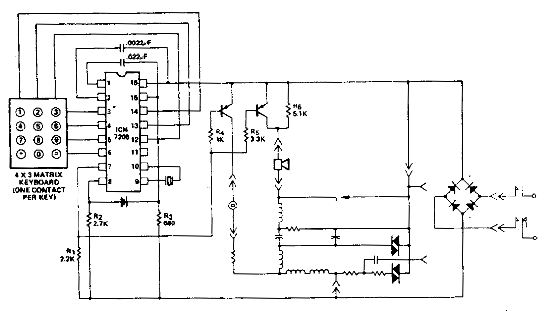 telephone hold button circuit