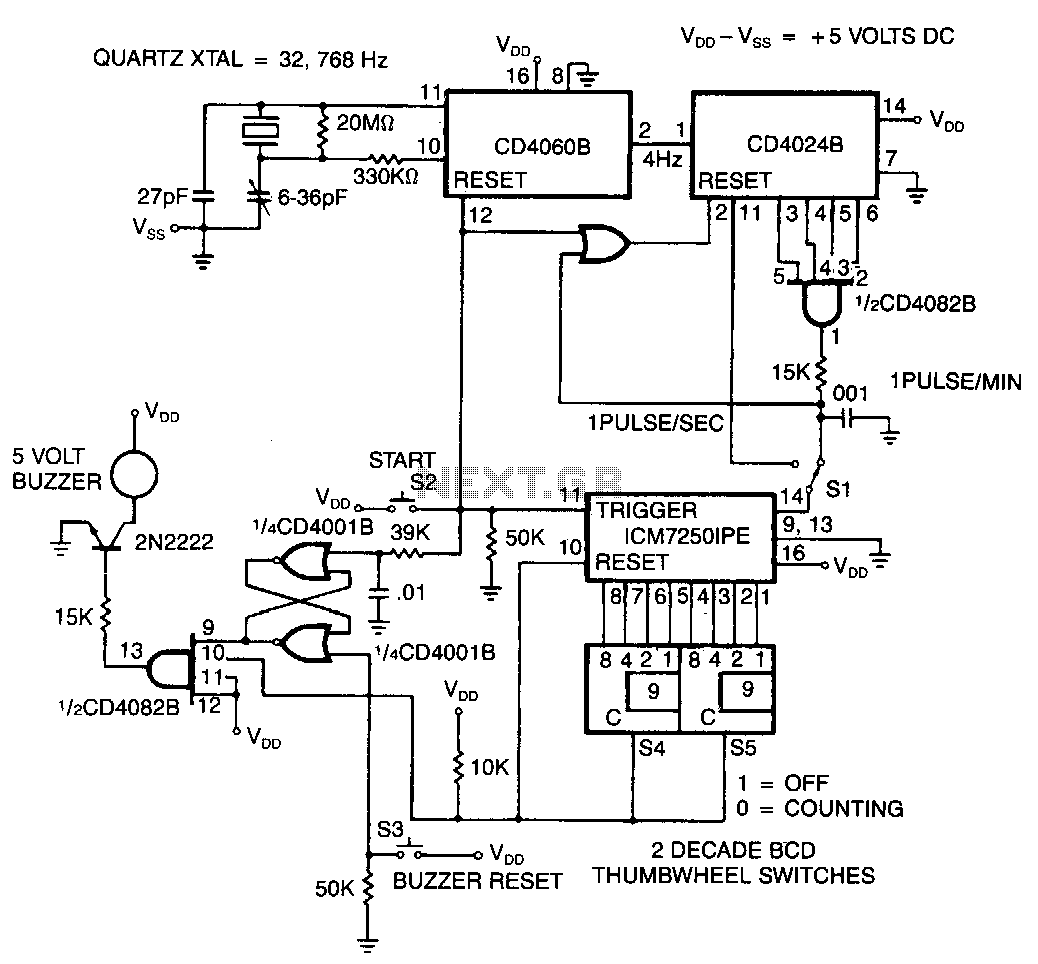hight resolution of cmos precision programmable laboratory timer