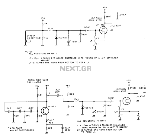 small resolution of a one transistor fm transmitter