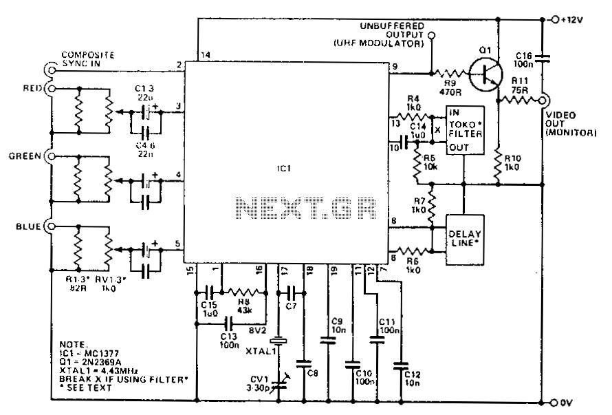 composite to vga converter schematic