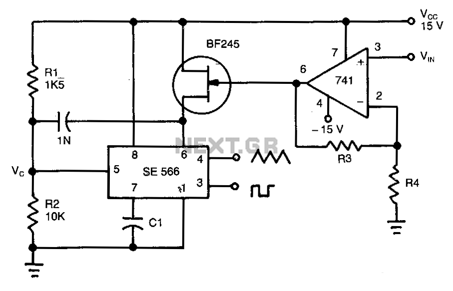 voltage to frequency circuits : Converter Circuits :: Next.gr
