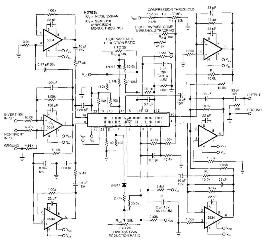 medium resolution of audio compressor audio band splitter