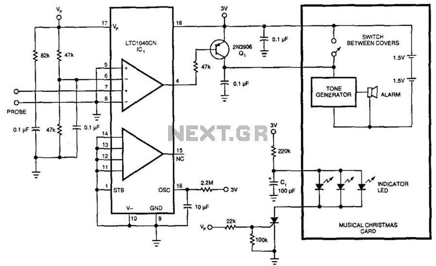 3V Water-Level Detector under Liquid Sensing Circuits