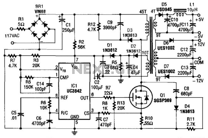 5 And 12V Ac Powered Switching Supply : AC-DC & DC-DC