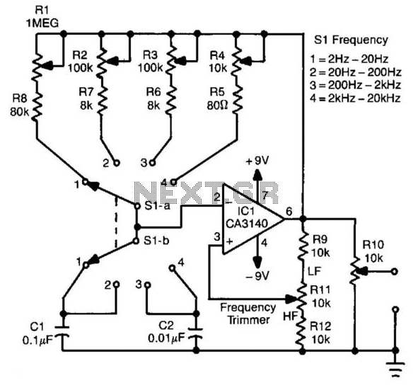 High Frequency Sine Wave Generator Schematic High Voltage