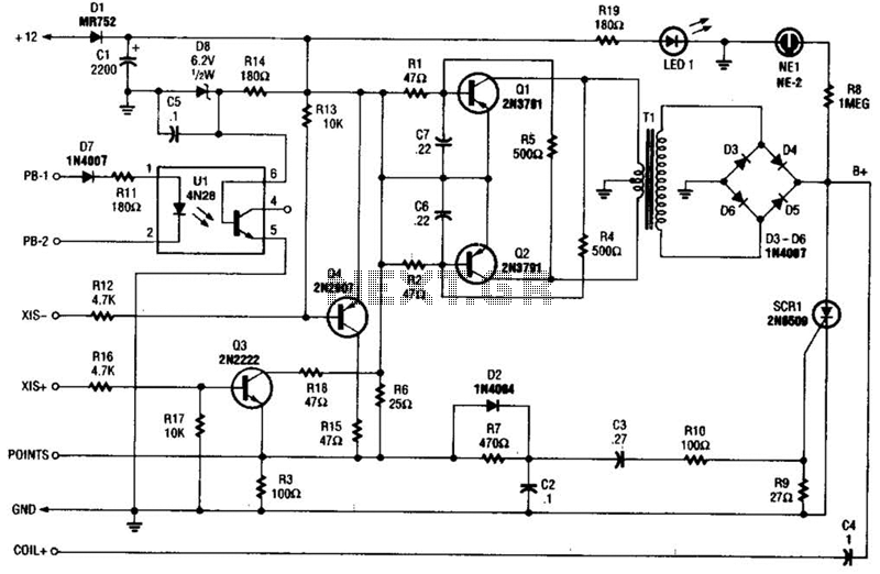 Cd Ignition System For Autos Circuit : Car Bike Circuits