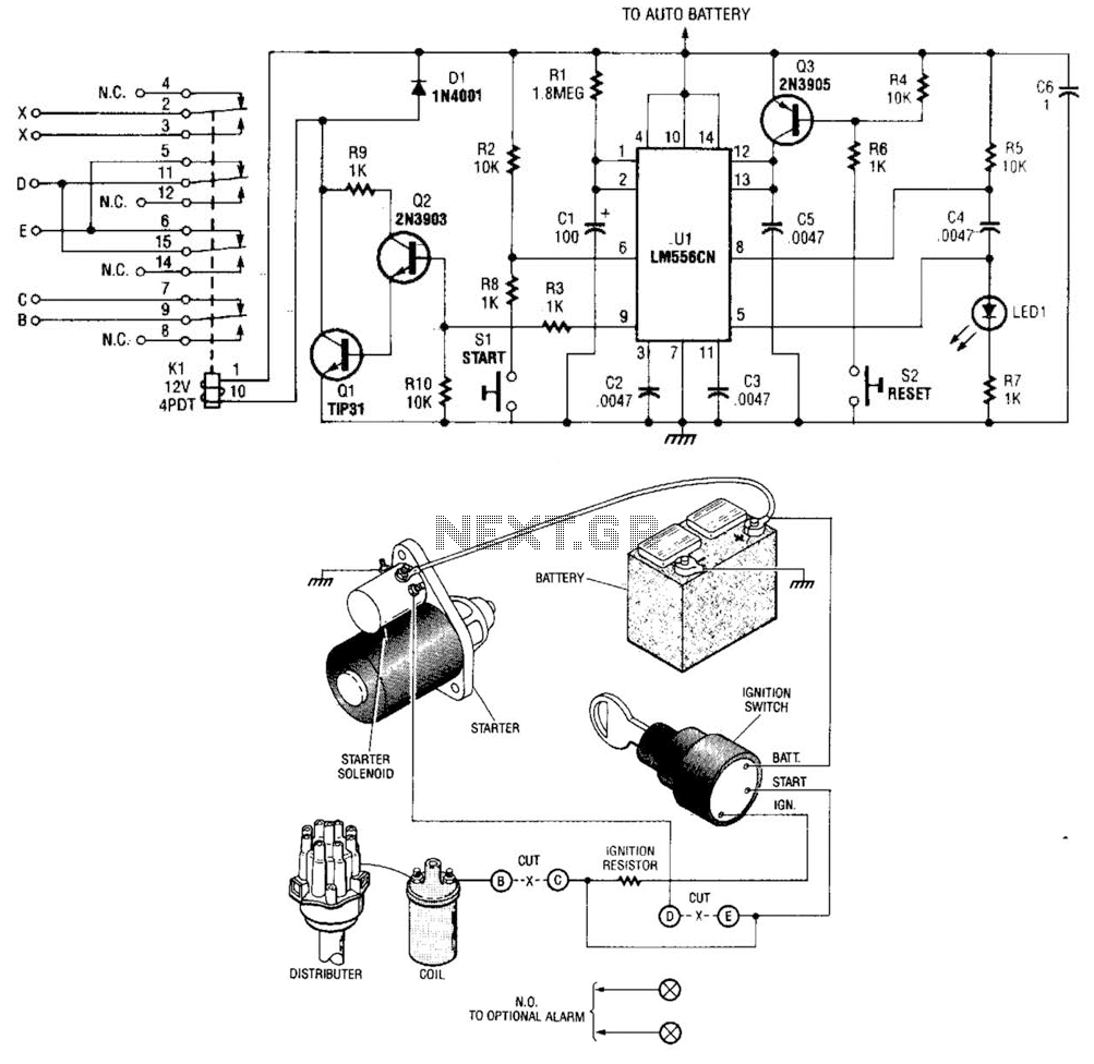 hight resolution of time delay auto kill switch circuit