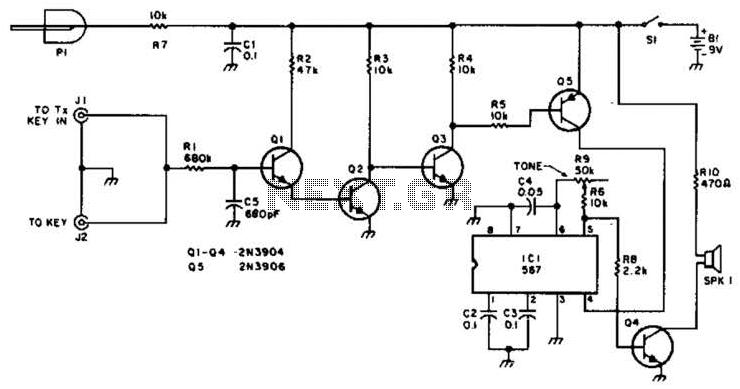 Qrp Sidetone Generator Code Practice Oscillator Circuit