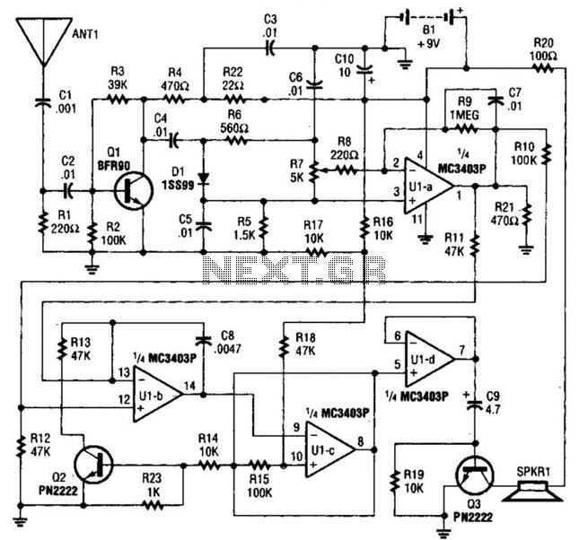 Bug Detector Circuit : RF-Radiation Detector Circuits
