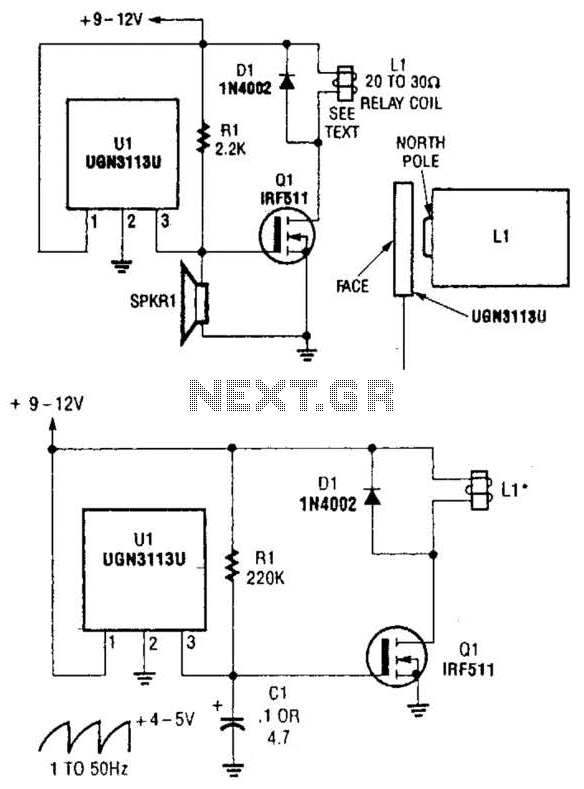 hall effect circuit : Sensors Detectors Circuits :: Next.gr