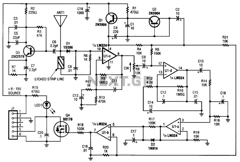 circuit diagram of mobile phone detector