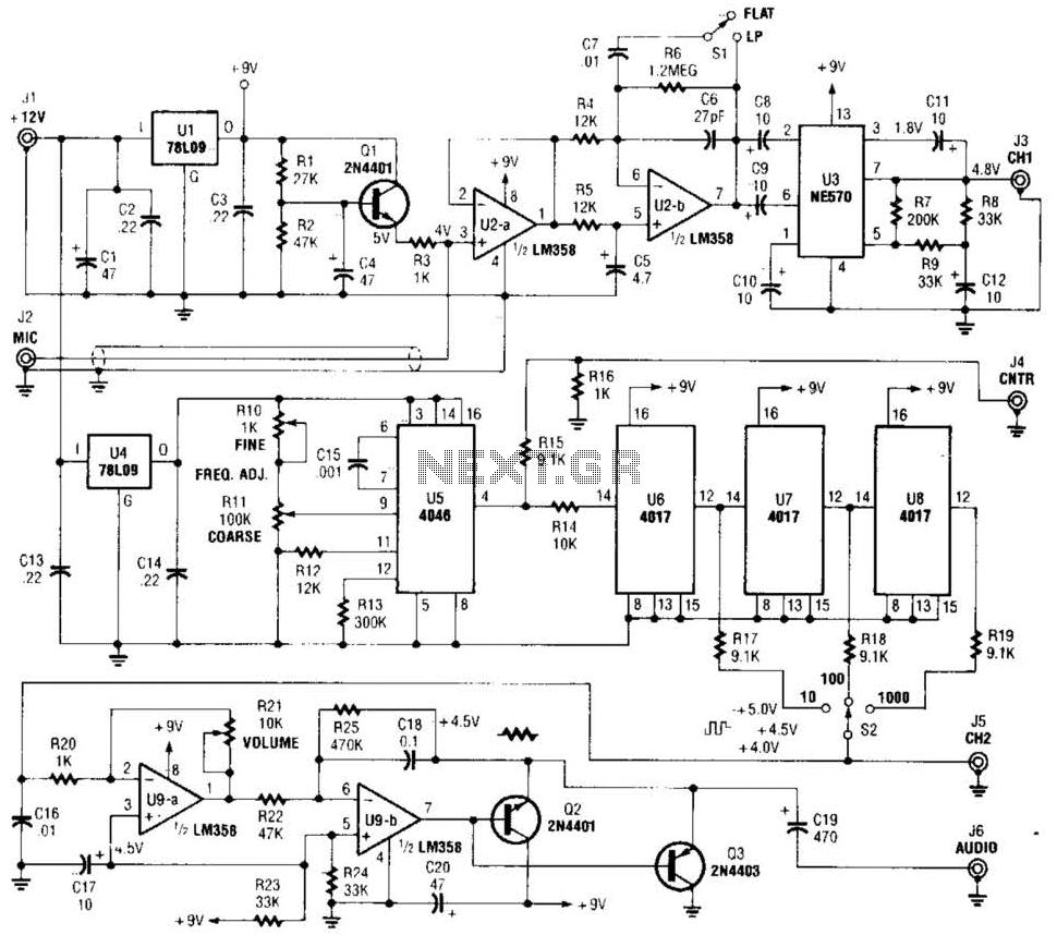 Precision Audio-Frequency Generator Circuit under Audio