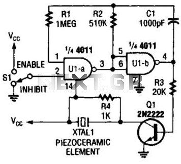 beeper buzzer circuit : Audio Circuits :: Next.gr