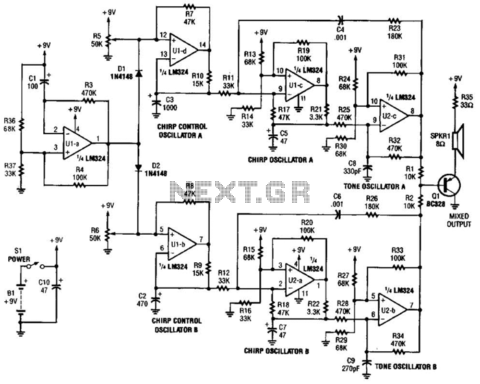 audio amplifier circuit : Audio Circuits :: Next.gr