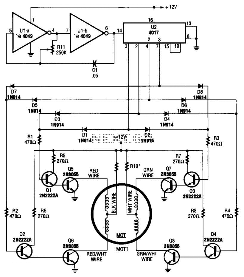 stepper motor circuit : Automation Circuits :: Next.gr