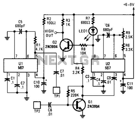 Tone Burst Generator Circuit under Human Sensing Circuits