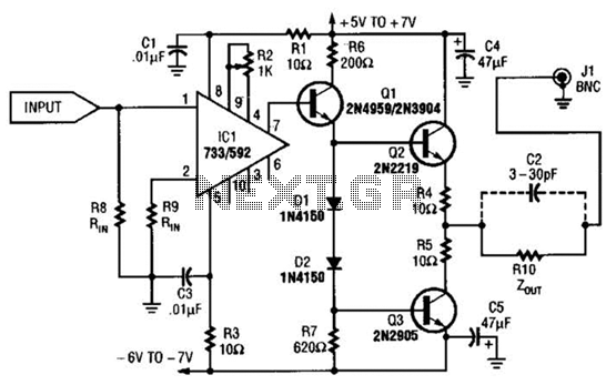 video amplifier circuit : Video Circuits :: Next.gr