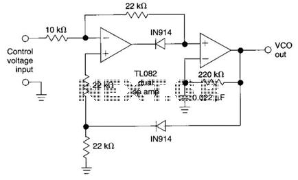 Sinusoidal 3Hz To 300Khz Vco Circuit under Volt Controlled