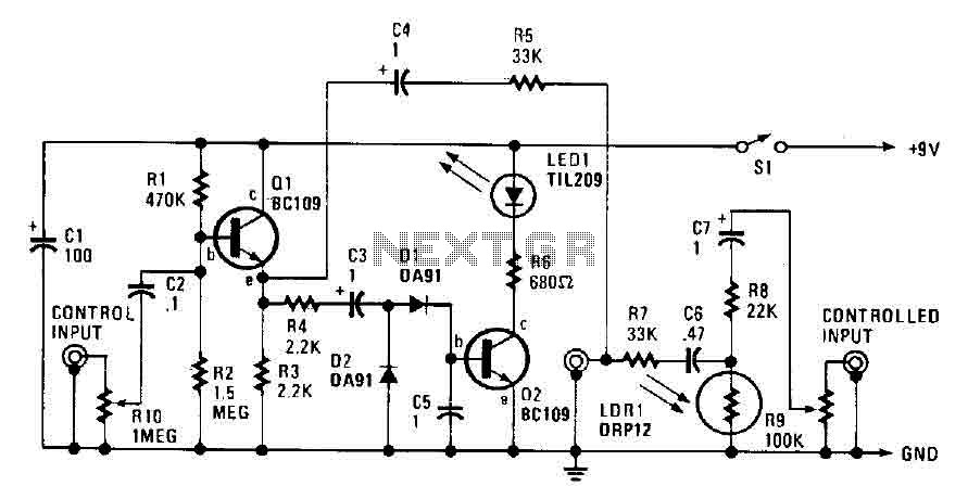 Automatic audio fader circuit under Audio Filters Circuits