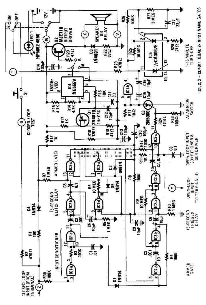 alarm circuit : Security Circuits :: Next.gr